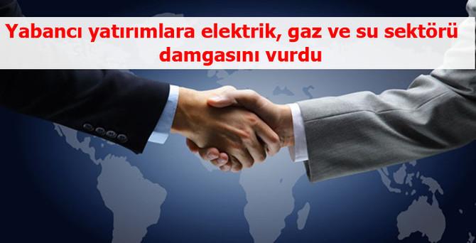 Yabancı yatırımlara elektrik, gaz ve su sektörü damgasını vurdu