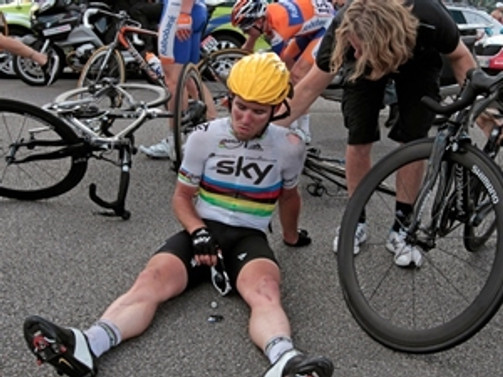 Fransa bisiklet turunda talihsiz kaza