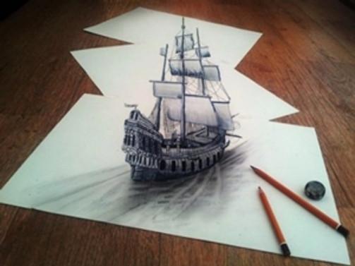 3 boyutlu resim böyle yapılıyor