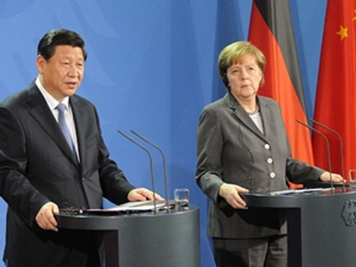 Merkel Çin Devlet Başkanı Şi görüştü