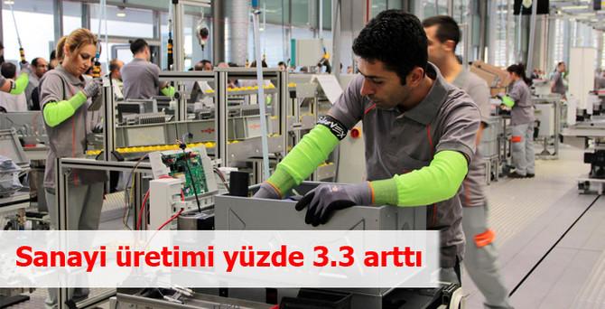 Sanayi üretimi mayısta yüzde 3.3 arttı