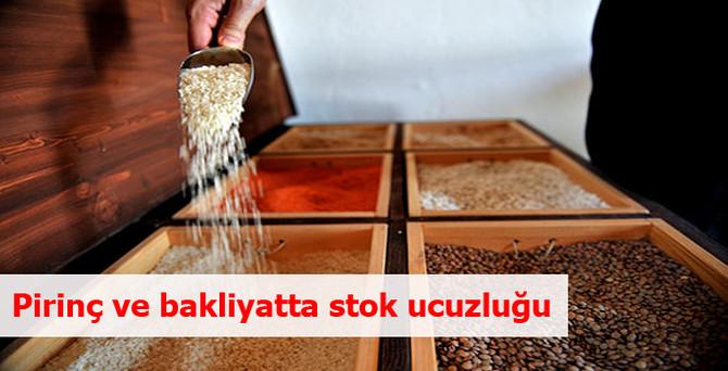 Pirinç ve bakliyatta stok ucuzluğu
