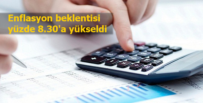Enflasyon beklentisi yüzde 8.30'a yükseldi