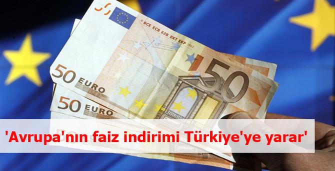 'Avrupa'nın faiz indirimi Türkiye'ye yarar'