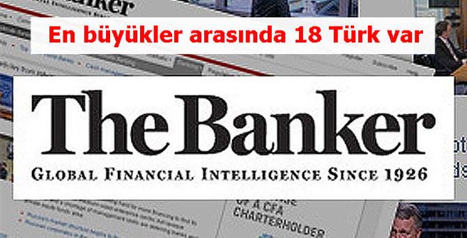 İlk binde 18 Türk bankası