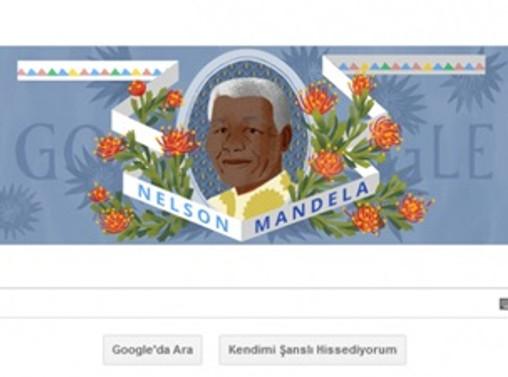 Google Nelson Mandela'yı unutmadı
