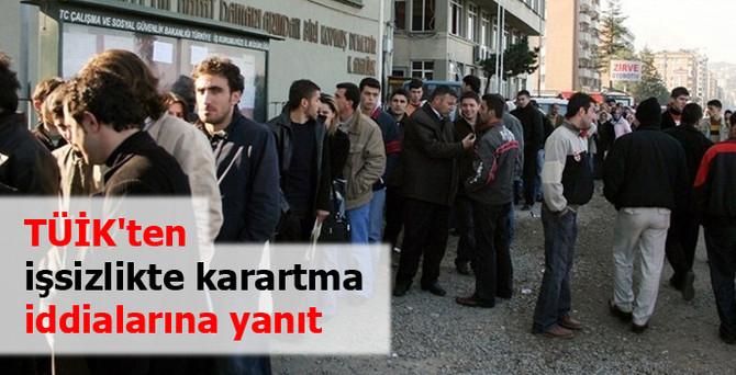 TÜİK'ten işsizlikte 'karartma' iddialarına yanıt