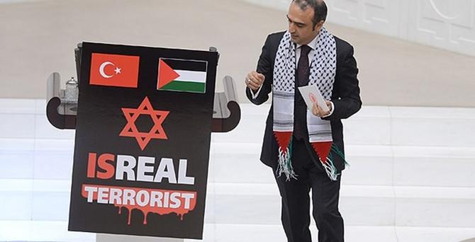 Meclis'te İsrail protestosu