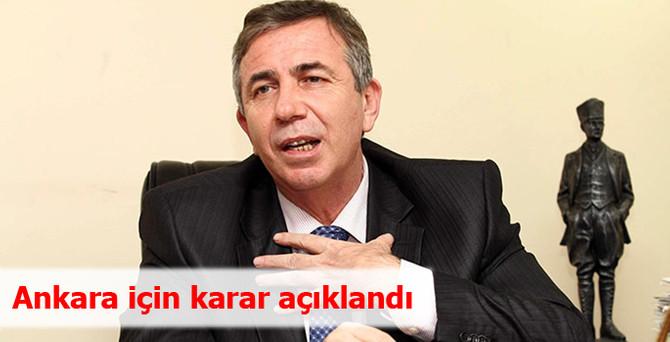 Ankara için karar açıklandı