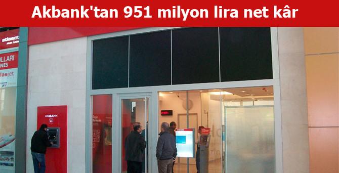 Akbank'tan 950.7 milyon lira net kâr