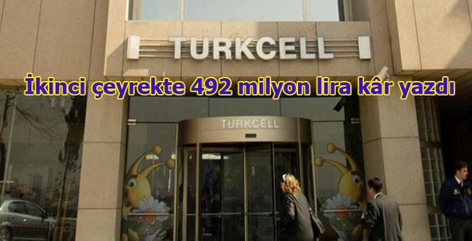 Turkcell'den 492 milyon lira kâr