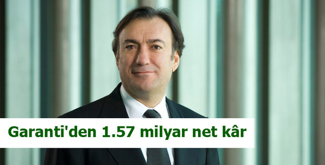 Garanti'den 1.57 milyar lira net kâr