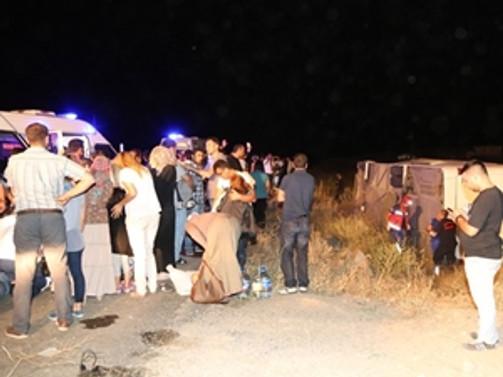Kayseri'de otobüs kazası: 49 yaralı