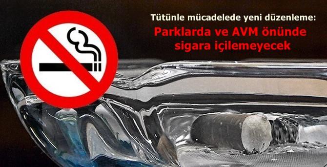 Parklarda ve AVM önünde sigara içilemeyecek
