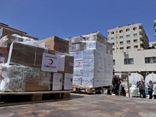 Türk Kızılayı'nın yardımı Gazze'ye ulaştı