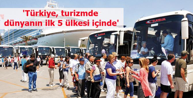 'Türkiye, turizmde dünyanın ilk 5 ülkesi içinde'