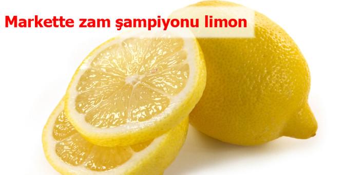 Markette zam şampiyonu limon