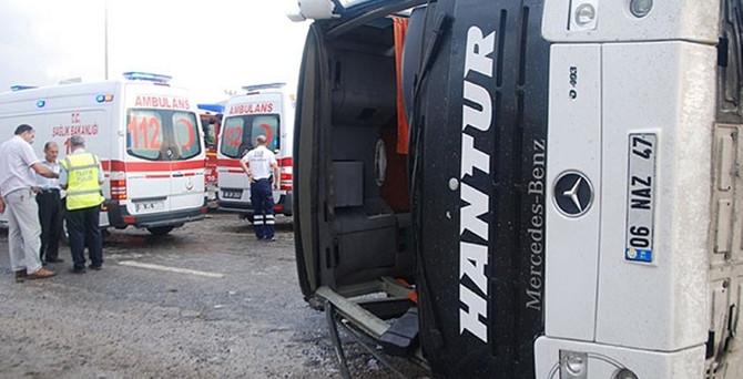 Yine otobüs kazası