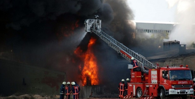 Demirtaş OSB'de patlama