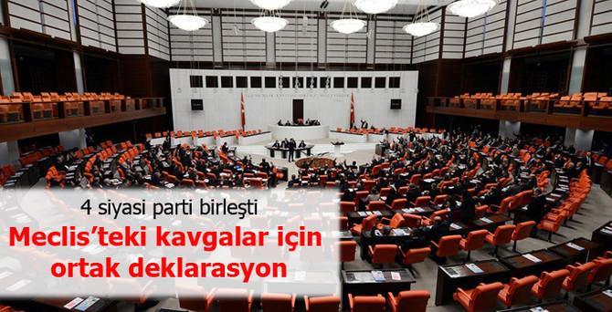 Meclis'teki kavgalara karşı ortak deklarasyon