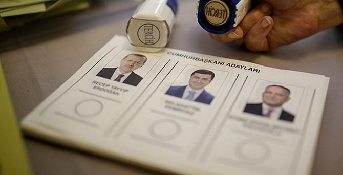 Geçici sonuçlara göre Cumhurbaşkanı Erdoğan