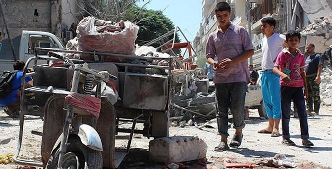 Pazar yerine varil bombalı saldırı: 30 ölü