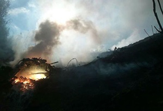 Yezidilere yardım taşıyan helikopter düştü