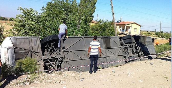 Aksaray'da otobüs devrildi: 7 ölü, 44 yaralı