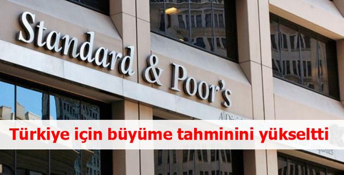 S&P, Türkiye için büyüme tahminini yükseltti
