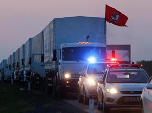 Rus konvoyu Ukrayna sınırına dayandı