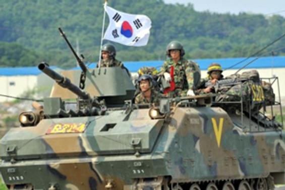 Güney Kore'de top sesleri