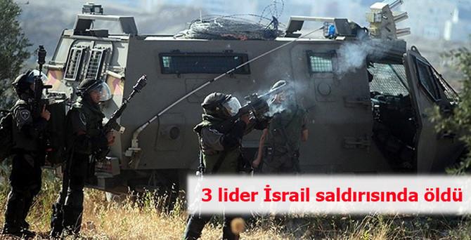 3 lider İsrail saldırısında öldü
