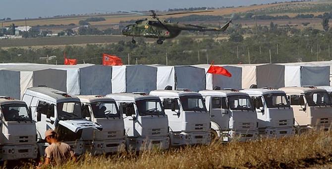 Rusya yardımları Ukrayna'da