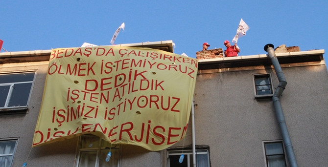 BEDAŞ'ta işten çıkarılan işçiler eylem yaptı