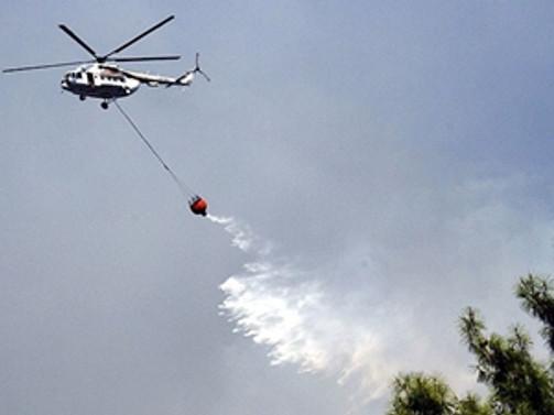 Akseki'de orman yangını