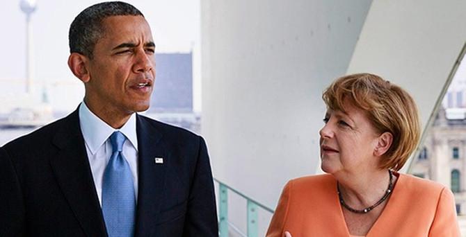 Obama, Merkel ile Ukrayna'yı görüştü
