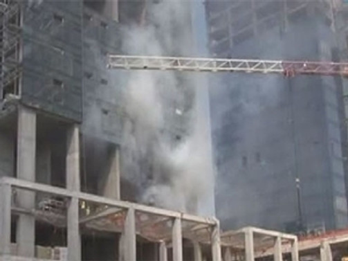 Ali Sami Yen şantiyesinde yangın
