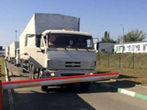 Rus konvoyu Ukrayna'dan geri döndü
