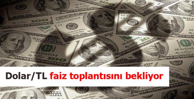 Dolar/TL faiz toplantısını bekliyor