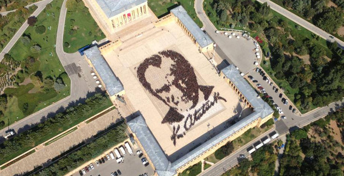 6 bin kişiyle Atatürk portresi