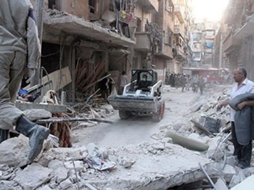 Suriye'de 'varil bombalı' saldırıda en az 30 kişi öldü