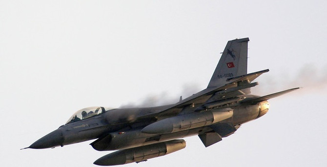 Suriye, Türk F-16'larını taciz etti