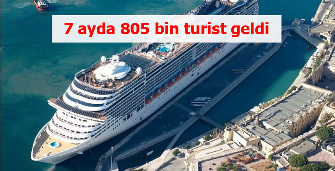 Yolcu gemileriyle ülkemize 7 ayda 805 bin turist geldi