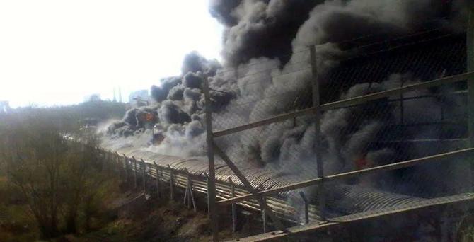 Termik santralde yangın