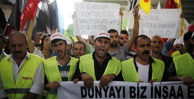 Asansör faciası protesto edildi