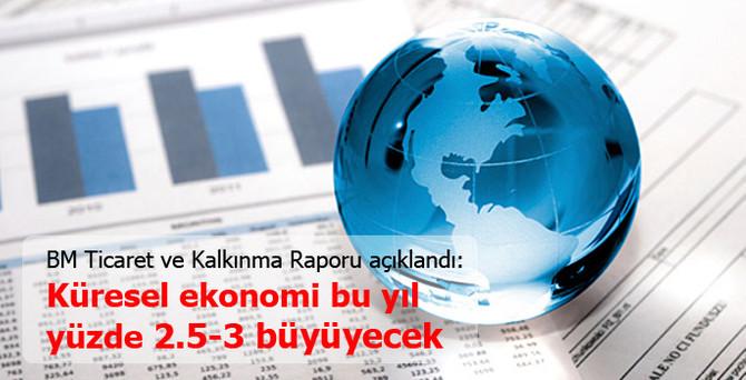 Küresel ekonomi, bu yıl yüzde 2,5-3 büyüyecek