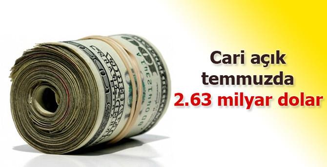 Cari açık temmuzda 2.63 milyar dolar