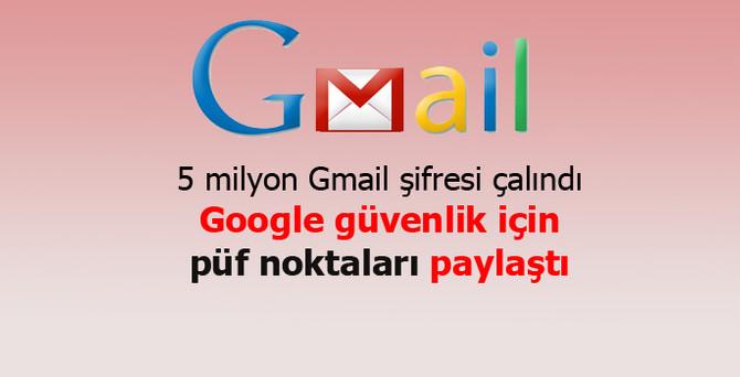 5 milyon Gmail şifresi çalındı