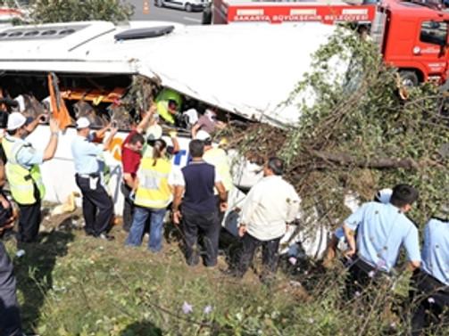 Konya'da otobüs yoldan çıktı: 22 yaralı