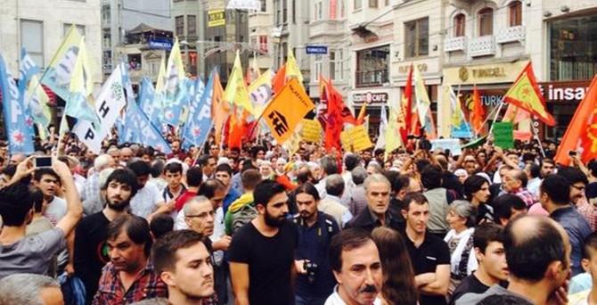 İstiklal'de IŞİD protestosu